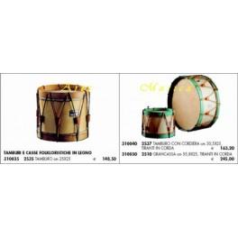 Tamburi e casse folkloristiche in legno