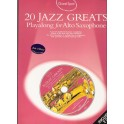 20 Jazz Greats   Playlon for Alto Saxophone